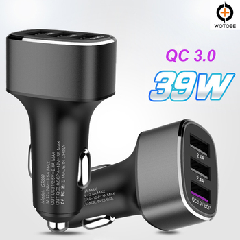 For huawei FCP/SCP Super Car charge, QC3.0 fast charge,mobile phone charger 5V/3A, 9V/2A,12V/1.5A 39W for Samsung xiaomi iPhone original cyke car charger 30w quick charge 3 0 5v 2 4a dual usb 9v 2a 12v 1 5a for android ios for iphone samsung phone charger