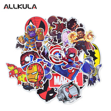 50pcs Mixed Super Hero Stickers Funny Kids Toy Sticker for DIY Luggage Laptop Skateboard Motorcycle Phone Waterproof Sticker