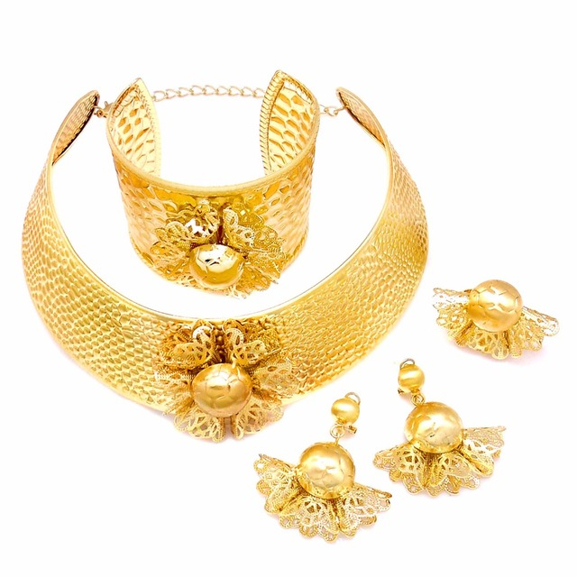 heavy kundan arabic bridal jewelry sets gold color turkish jewelry