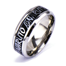 Naruto Titanium Stainless Steel Gold Ring