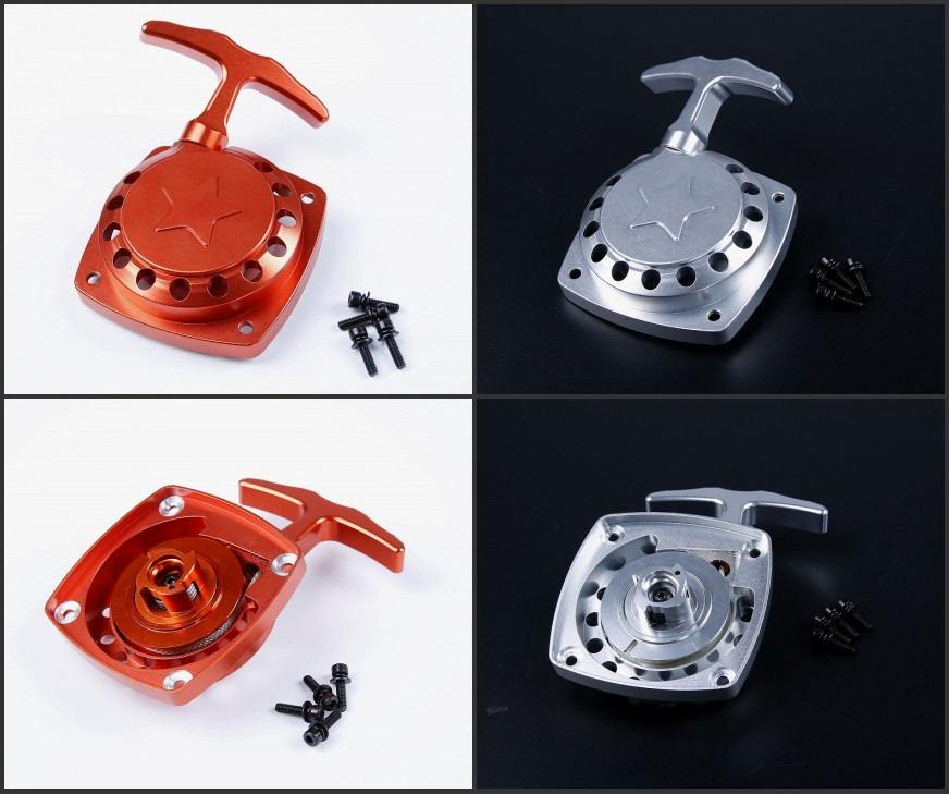Baja CNC Metal Easy start pull starter fit RV ZENOAH 32cc engine For 1/5 HPI Baja 5B 5T Rovan King Motor baja rc reed valve system for cy zenoah engine