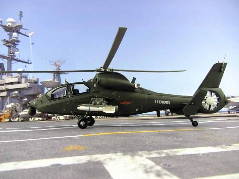 Modèle d'hélicoptère en alliage de Z-19 35 cm modèle d'hélicoptère droit modèle de dix-neuf avions 1:48