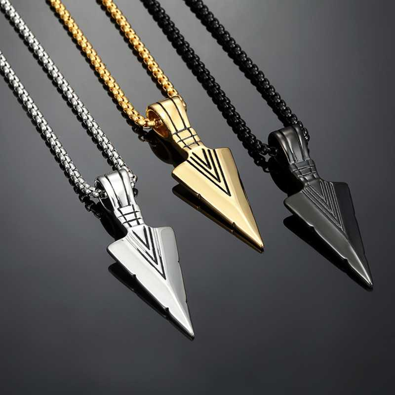 Personality Pendant Gift Cheap New Accessories Arrow Necklace Fashion Necklace Jewelry Men Vintage Alloy Simple Women Creativity