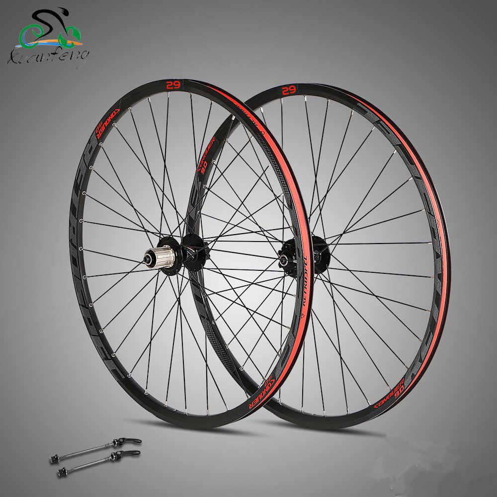 Haute qualité roue 27.5/29 pouces vtt VTT roues 32 H frein à disque vélo roues avant 2 arrière 4 roulements roues