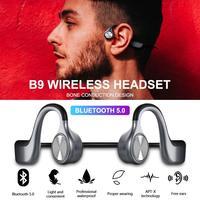 Wireless Headphones Bone Conduction Bluetooth BT 5.0 Earphone Binaural Stereo Noise Reduction HD Sound Quality Earphone