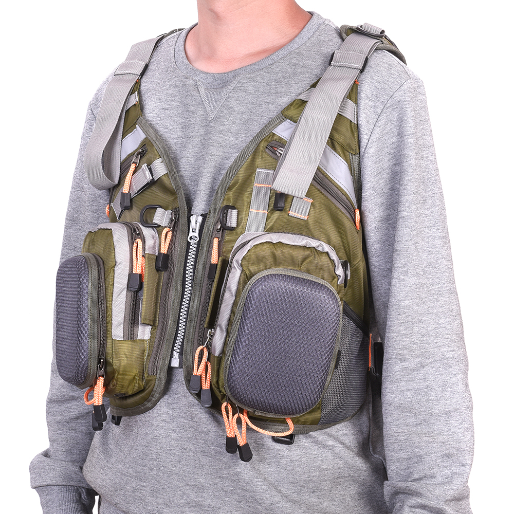 Blusea Mesh Fly Fishing Vest Backpack Breathable Outdoor Fishing Vest