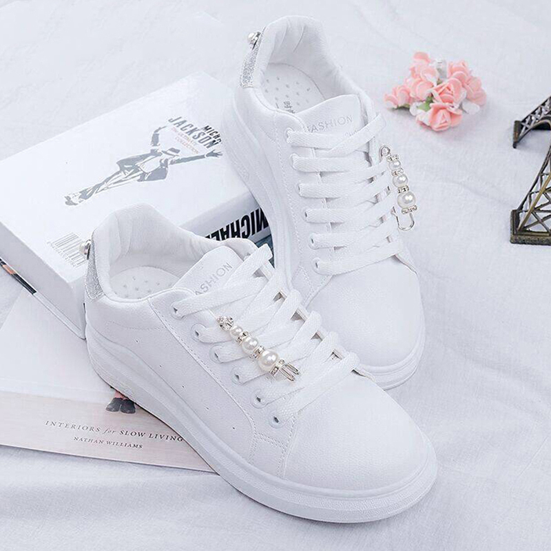 Women Shoes New Canvas Shoes Women Vulcanize Sneakers Candy Color Female Lace-up Platform Shoe With Pearl Tenis FemininoWomen Shoes New Canvas Shoes Women Vulcanize Sneakers Candy Color Female Lace-up Platform Shoe With Pearl Tenis Feminino