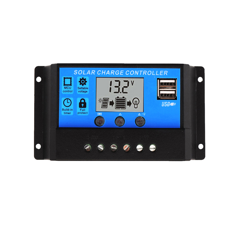 10A 20A 30A 12V/24V LCD PWM Voltage Solar Controller Battery PV cell panel charger Regulator Lamp 100W 200W 300W 400W 500W10A 20A 30A 12V/24V LCD PWM Voltage Solar Controller Battery PV cell panel charger Regulator Lamp 100W 200W 300W 400W 500W