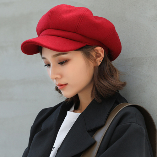 1fcad3b0b5e Dropwow HT1990 Auutmn Winter Hats for Women Solid Plain Octagonal ...