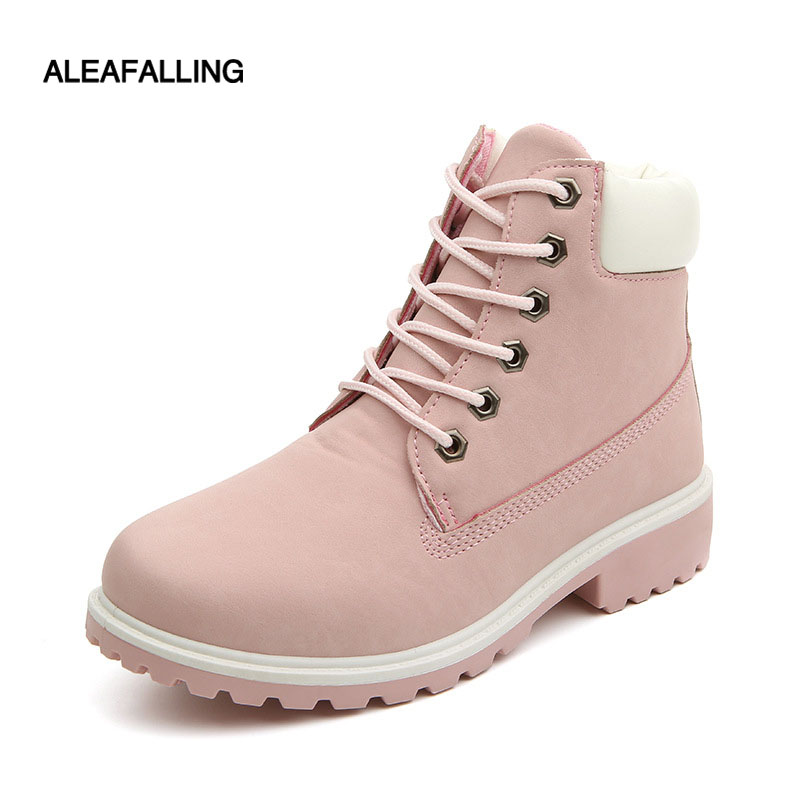 8f3f1e343bc9 Aleafalling Motocycle booties Women Botas Female Womens Ankle Winter Snow  Boots Mature Boots Autumn Shoes Big
