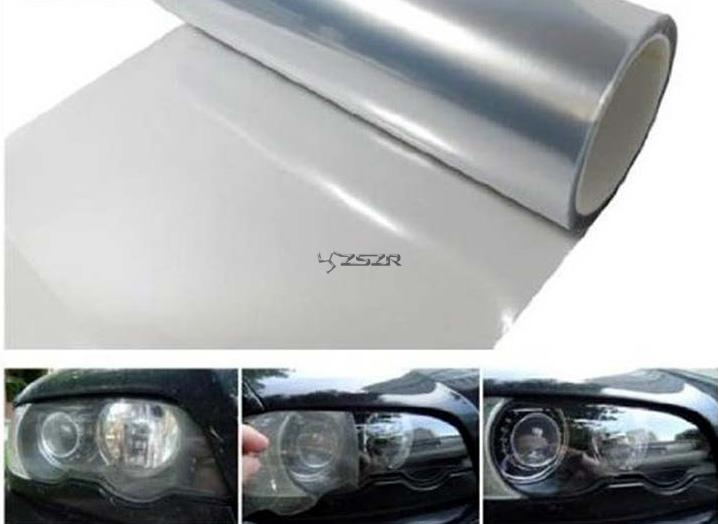 Self adhesive clear bra headlight bumper hood paint protection film vinyl sheet headlights fog lights tint car stickers z2ca245 in car stickers from