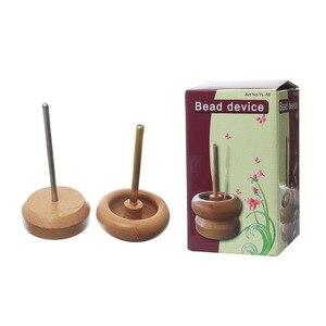 "Image 2 - דורין תיבת עץ חרוז ספינר עבור זרע חרוז מחרוזת כלי תכשיטי ביצוע טבעי חרוז מכשיר 18.5cm x 10.5cm (7 2/8 ""x4 1/8""), 1 סט"