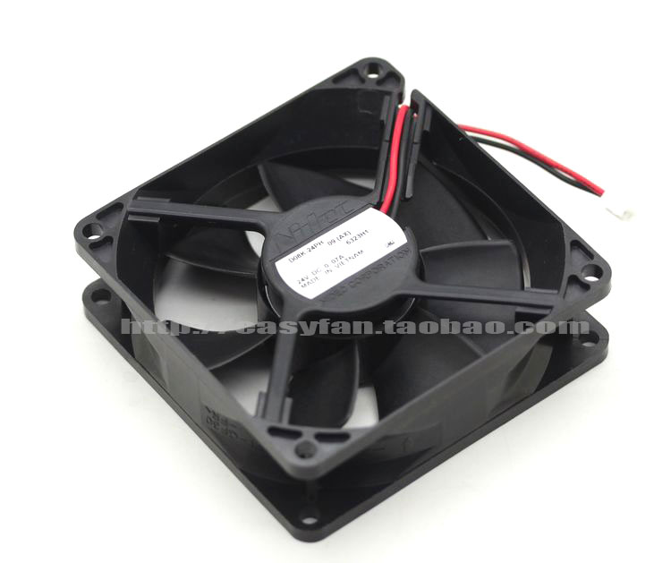 Nidec D08K-24PH 09 (AX) DC 24V 0.13A 80x80x25mm Server Square fan ...