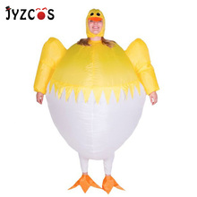 JYZCOS Adult Women Men Inflatable Yellow Chicken Costume Halloween Carnival Holiday Games Cosplay Props Clothing Blow Up Costume free delivery 13feet giant inflatable chicken hot sale nylon oxford blow up chicken model for advertising toys
