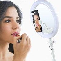 10 LED Ring makeup mirror Light flexible Fill Light Dimmable Lamp Studio Photo Phone Video Live Photography Selfie Light