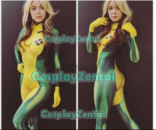 X-men Rogue Cosplay Superhero Costume Spandex 3D Print Rogue Superhero Zentai Bodysuit Tight Zentai for Adult/KIds Freeshipping