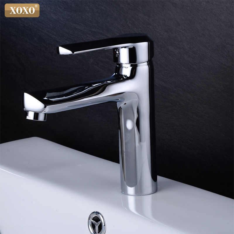 XOXO chrome холодной и горячей Смесители для ванной латуни смесителя на бортике одно отверстие бассейна смеситель 80025