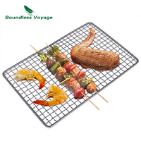 Boundless Voyage Titanium Grill Grate Mini Size Durable Charcoal BBQ Grill Plate For Ourdoor Camping Hiking Picnic Beach Ti15108