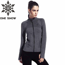ONE SNOW Women Yoga Jacket Clothing Quick-dry Long-sleeve Sportswear for Female   Sports Fitness Zipper Coat Outerwear