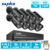 SANNCE 8CH Security Camera System 1080N DVR Reorder And 8 HD 1280TVL Outdoor CCTV Cameras