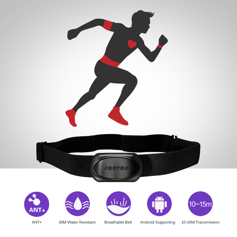 Cybex Treadmill Heart Rate Monitor: Chest Strap Belt Heart Rate Monitor Sensor Wireless ANT