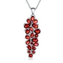 宝石のバレエ 10.56Ct 天然赤ガーネット宝石ヴィンテージペンダント 925 スターリングシルバー母のネックレス & ペンダントファインジュエリー
