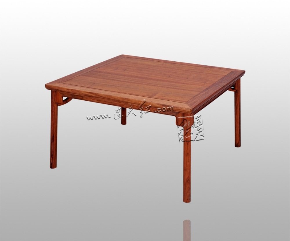 Square Tables with round legs old-fashioned for eight people Living Room Dining Desk Home Rosewood Furniture 86*86cm Solid Wood