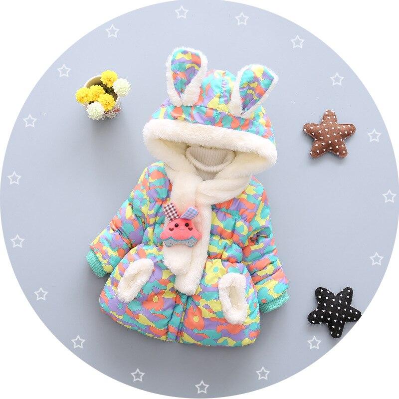 grosso algodão-acolchoado bebê menina outerwear infantil do
