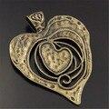 3 unids/lote Collar Colgante de Fundición De Gran Corazón Colgante de Los Encantos Del Tono de Bronce Antiguo Resultados de La Joyería 68*63*2mm Punk 04110