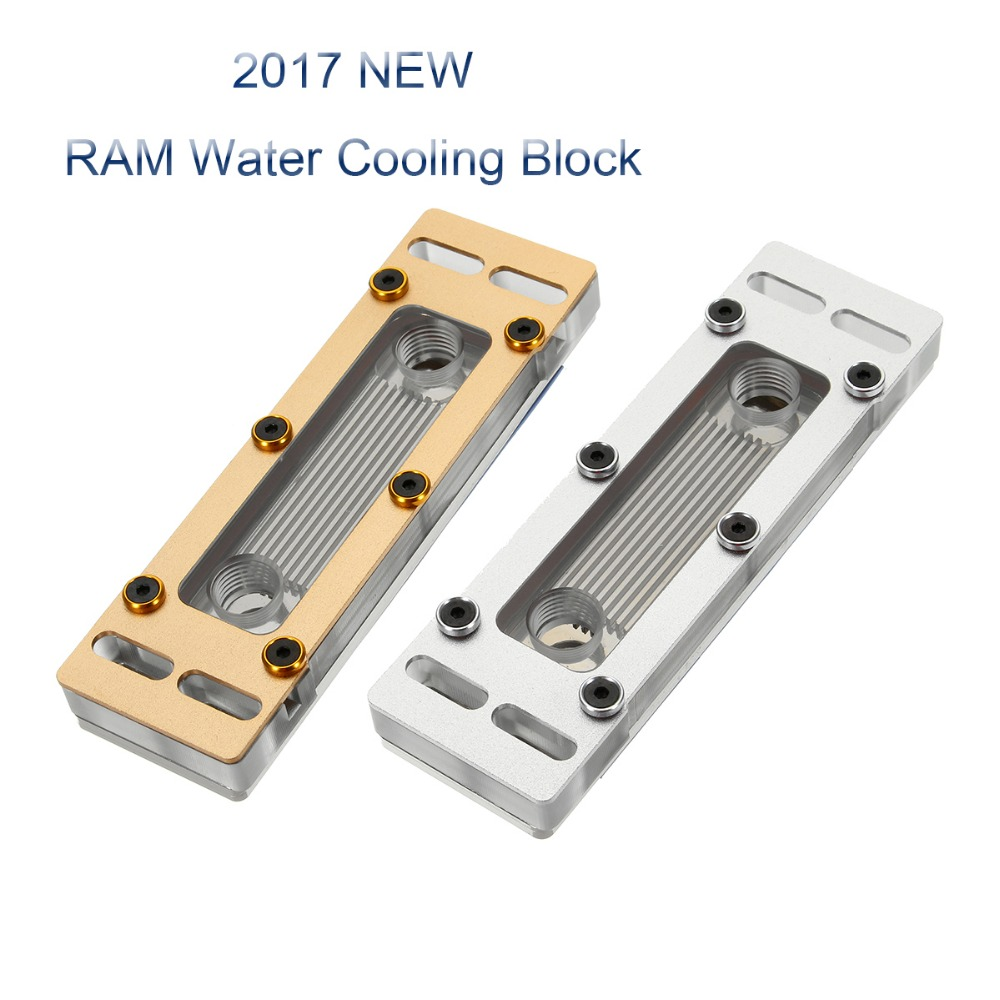 Wholesale RAM Water Cooling Block Computer Liquid Water Cooler Heat Sink Four Channels Copper + PC Waterblock Radiator Heatsink 2 x b ddr ddr2 ram memory cooler heat spreader heatsink z09 drop ship
