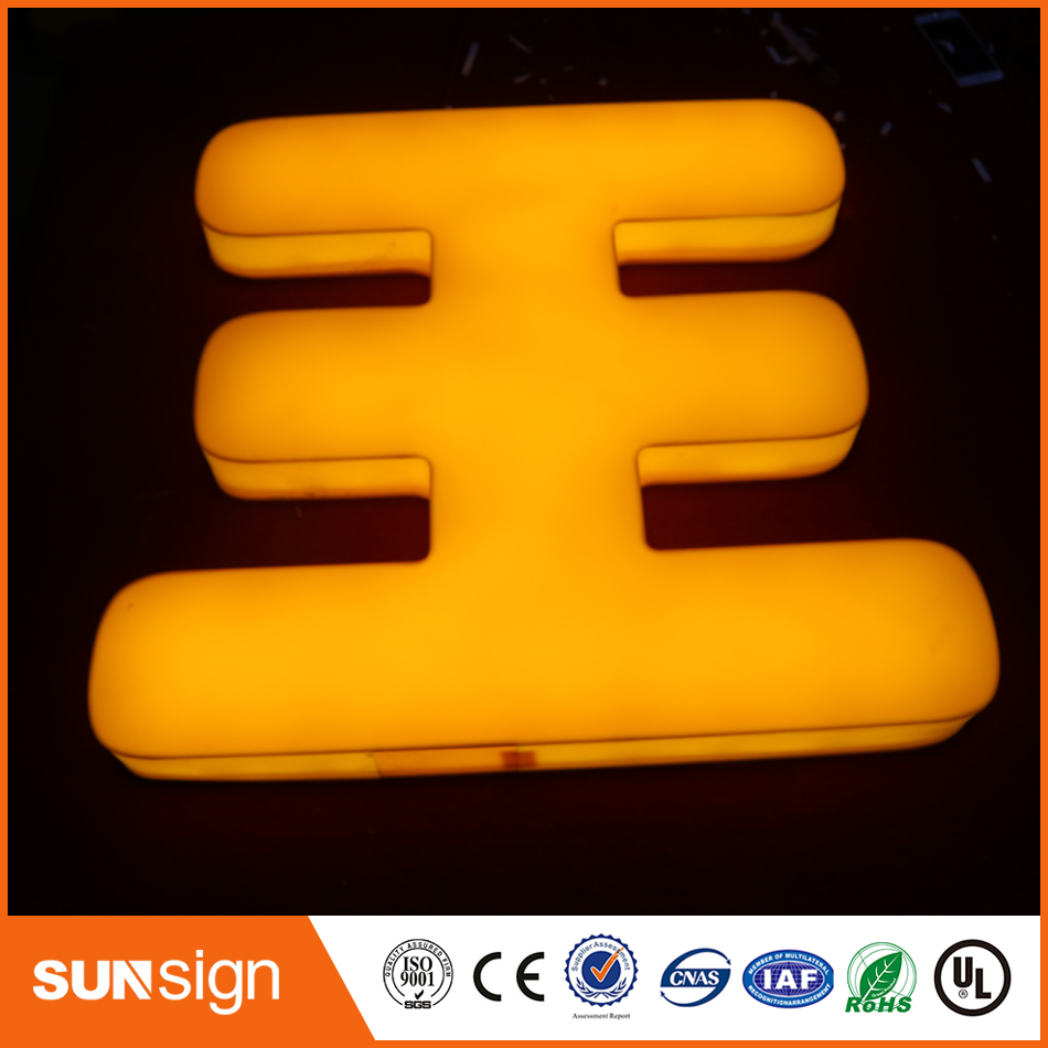 Custom Design LED Letter Fonts 3d Letters