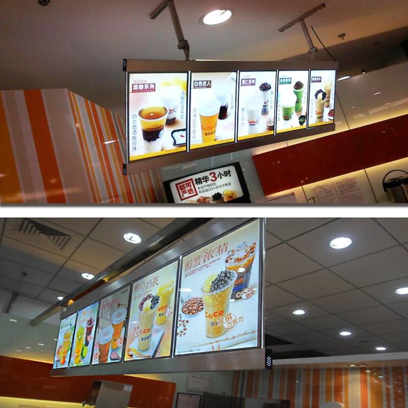 Luzes de Publicidade sistema de menu lightbox magro Total Size : H600xl2400mm