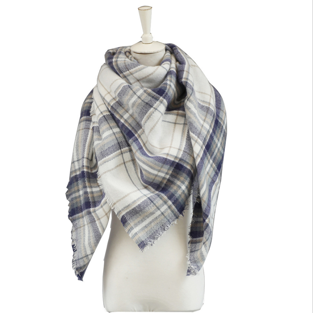 Ode To Joy High Quality Plaid square Scarf Women Cashmere Winter shawl Female Warm soft