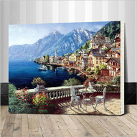 Assembly Frame Home Beauty Oil Paints Painting By Numbers Diy Picture Coloring Drawing On Canvas Painting