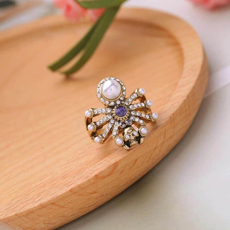 wing yuk tak Fashion Statement Jewelry Charm Vintage White Simulated Pearl Cross Cute Rings