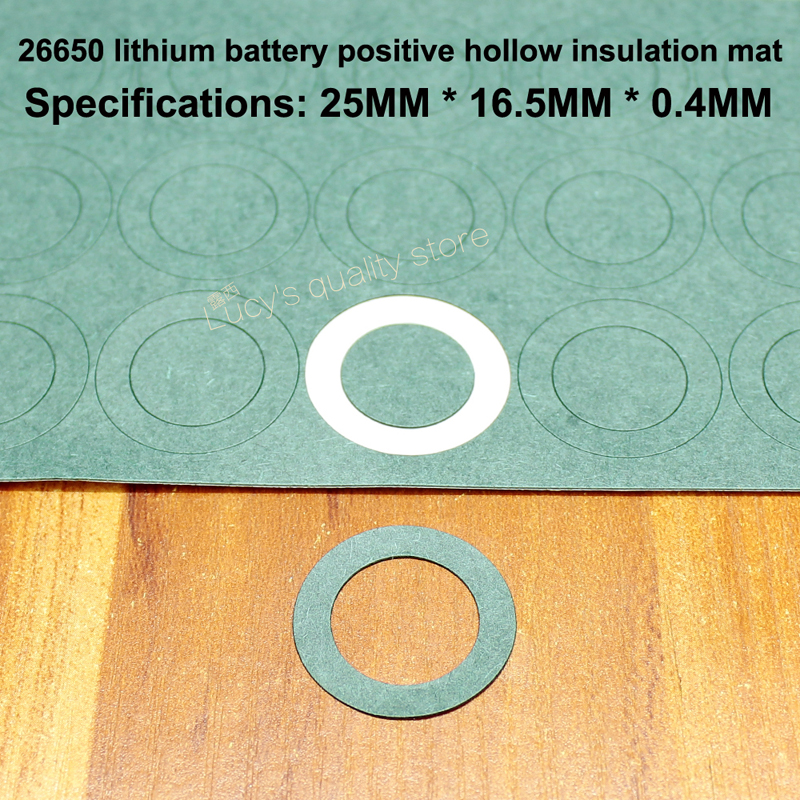 50pcs lot 26650 Lithium Battery Solid Negative Insulation Gasket Surface Mat Meson Single 26650 Solid Gasket Battery Accessories in Replacement Parts Accessories from Consumer Electronics