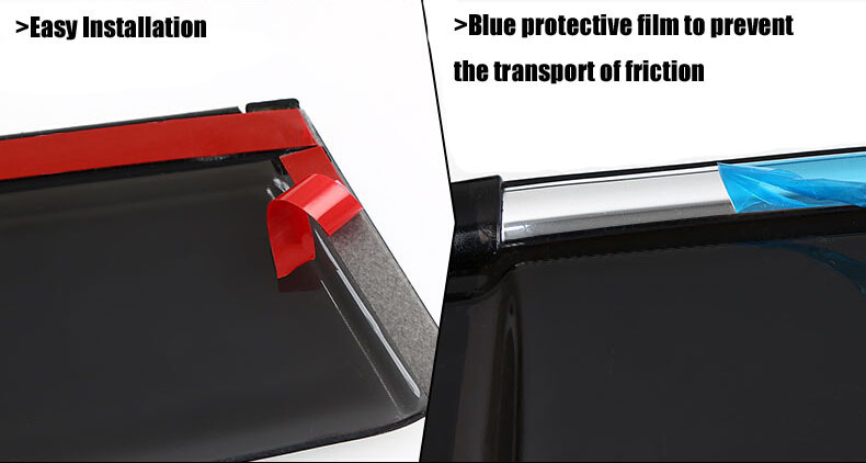 Auto rain shield window visor car window deflector sun visor covers stickers 11