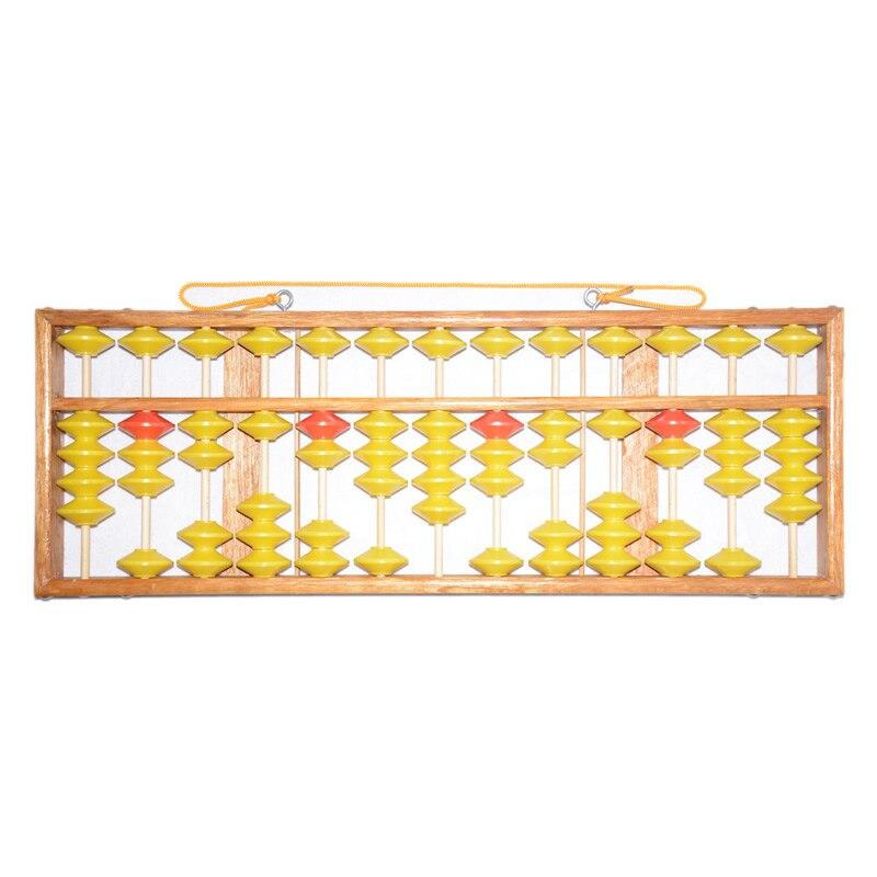 Haute qualité 13 colonne bois cintre grande taille NON-SLIP Abacus chinois Soroban outil en mathématiques éducation pour enseignant