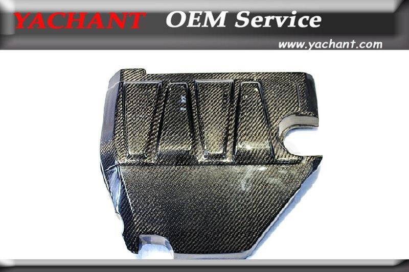 Автомобильный Стайлинг крышка двигателя из углеродного волокна подходит для 2008 2012 Mitsubishi Lancer Evolution EVO X EVO 10 OEM стиль крышка двигателя w/o логоти