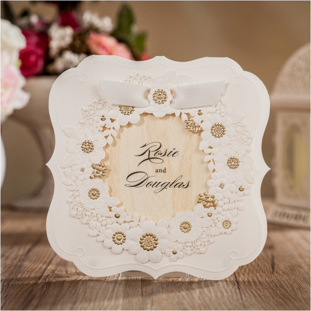Aliexpress Buy Unique Wedding Invitations Cards 2016 Laser – Unique Invitation Card