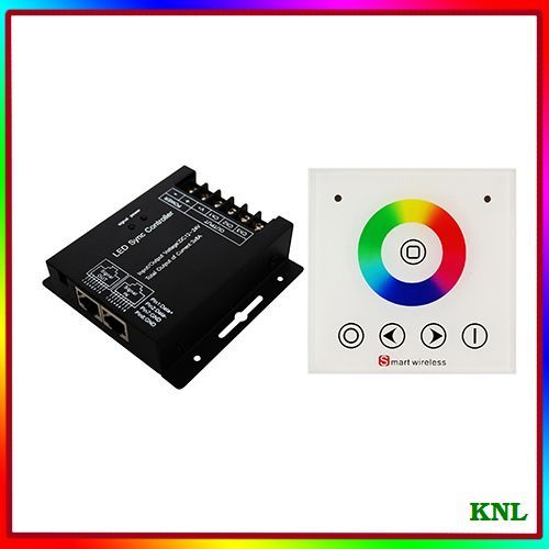 RF wireless full touch wall panel remote led rgb sync controller, dream color led controler touch remote, DC12-24V free shipping