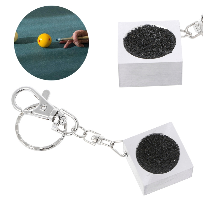 1Pc Portable Keychain Billiard Cue Tip Shaper Snooker Pool Scuffer Table Tool hot sale