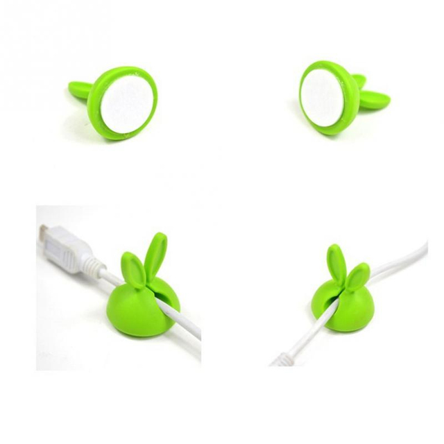 4PCS Cartoon Cable Winder Holder for Mp3 Mp4 Cell Phone Usb Earphone Headphones Wire Cable