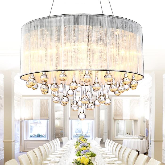 US $190.0 |Moderne kristall lampe schlafzimmer esszimmer lampe höhle LED  mode einfache wohnzimmer lampe leuchte HD055-in Pendelleuchten aus Licht &  ...