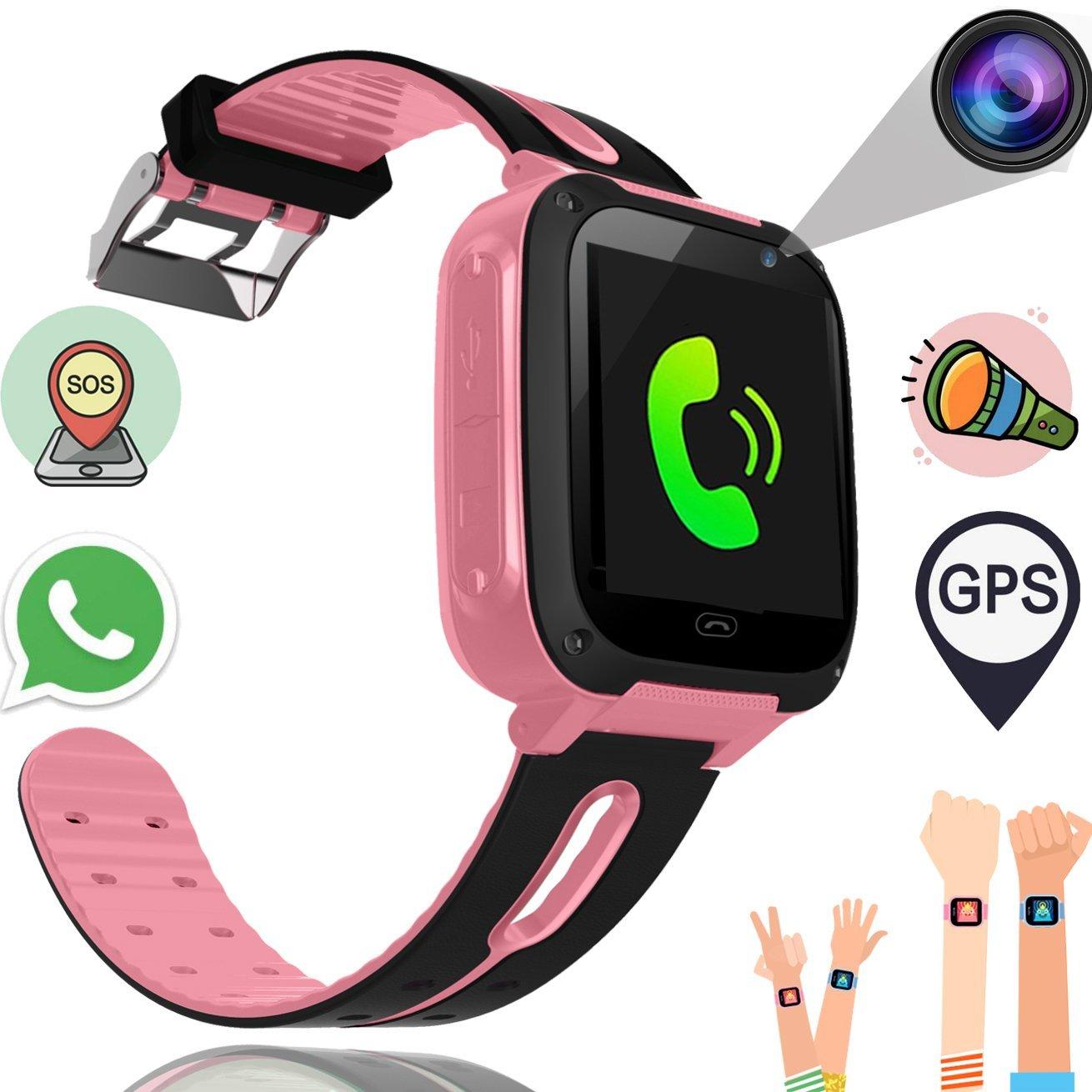 Kids Smart Watch For Girls Boys GPS Fitness Bracelet Tracker Smart Wrist SIM Phone Trackers Camera Touch Screen Anti-lost Wearab