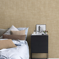 PAYSOTA New Chinese Brown Plain Color Non woven Wallpaper Modern Simple Living Room Bedroom TV Wall Background Wall Paper Roll