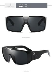 Image 3 - Мужские большие солнцезащитные очки DUBERY, спортивные защитные очки с широкой оправой, ретро очки с отражающим покрытием, UV400