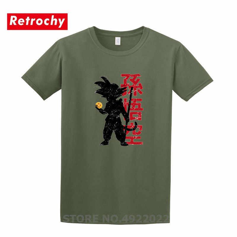 Япония стиль dragon ball Z Футболка Мужская Супер сайян футболка Мультфильм получить все семь, шар дракона футболка Сон Гоку семья части Топ тройник