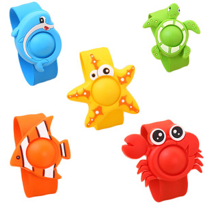 Indoor Cartoon Silicone Natural Essential Oil Anti Mosquito Repellent Bracelets Baby Infant Children Hand Ring YH-461459(China)