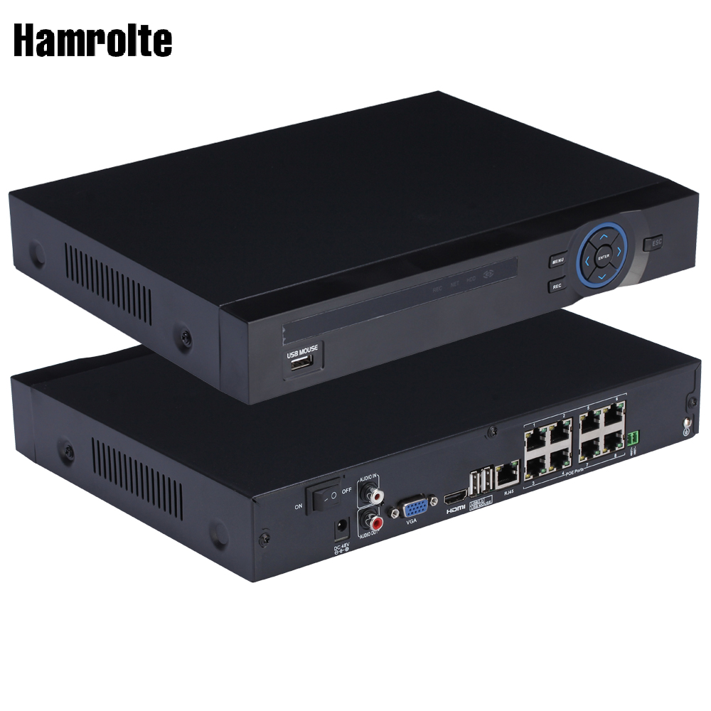Hamrolte H.264 8CH 48V Input POE NVR 8CH 3MP/Full HD 1080P For IEEE802.3af 48V POE IP Camera, Xmeye,Motion Detection,IE CloudHamrolte H.264 8CH 48V Input POE NVR 8CH 3MP/Full HD 1080P For IEEE802.3af 48V POE IP Camera, Xmeye,Motion Detection,IE Cloud